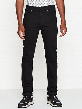 mcq-alexander-mcqueen-mismatched-strummer-slim-fit-jeans-black