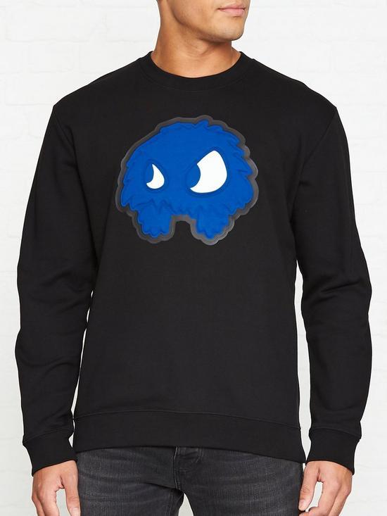 80130d686292b Monster Print Sweatshirt - Black