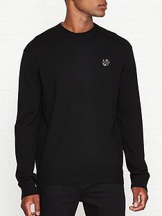 mcq-alexander-mcqueen-swallow-logo-knitted-jumper-black
