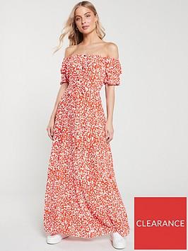 river-island-river-island-bardot-button-through-maxi-dress--red-print