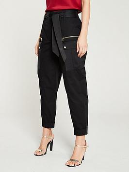 river-island-utility-peg-trouser--black