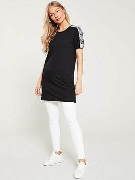 ri-plus-ri-plus-diamante-trim-jumbo-t-shirt-black