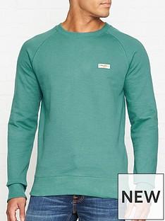 nudie-jeans-samuel-logo-sweatshirt-turquoise