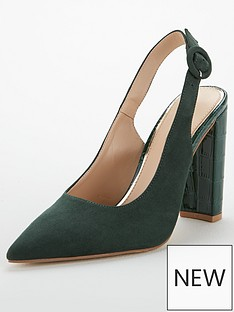 v-by-very-salt-block-heel-slingback-point-court-shoes-dark-green
