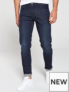 armani-exchange-j16-straight-fit-classic-jeans-indigo