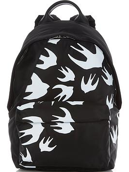 mcq-alexander-mcqueen-mens-swallow-print-backpack-black