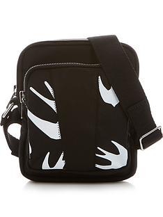 mcq-alexander-mcqueen-swallow-print-cross-body-bag-black