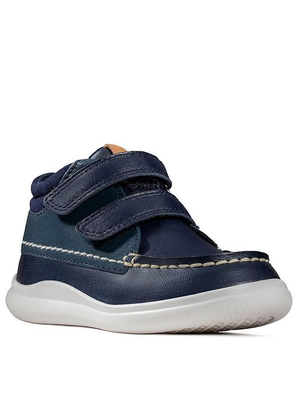 get new the best attitude sale online Clarks Toddler Boys Cloud Tuktu Boots - Navy | very.co.uk