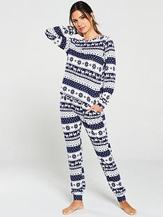 v-by-very-gift-wrapped-soft-touch-print-lounge-set-fairisle