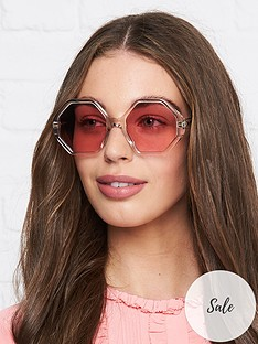 chloe-willow-clear-hexagon-sunglasses-pink