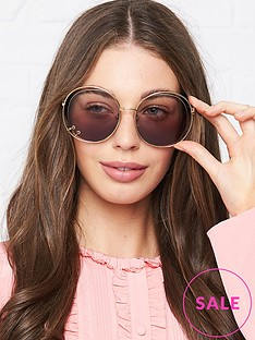 chloe-oversized-cut-out-sunglasses-gold