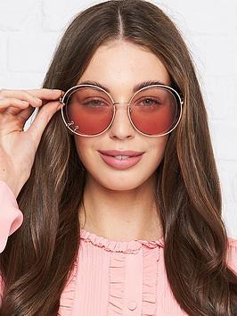 chloe-oversized-cut-out-sunglasses-rose