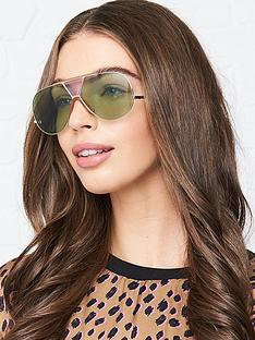 chloe-shield-aviator-sunglasses-gold
