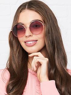 karl-lagerfeld-kreativenbspround-metal-sunglasses-pink