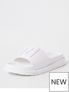 river-island-sliders-white