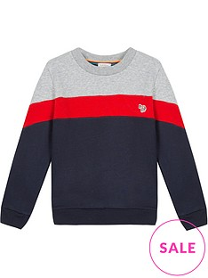 paul-smith-junior-boys-vasco-crew-neck-sweatshirt-navygreyred