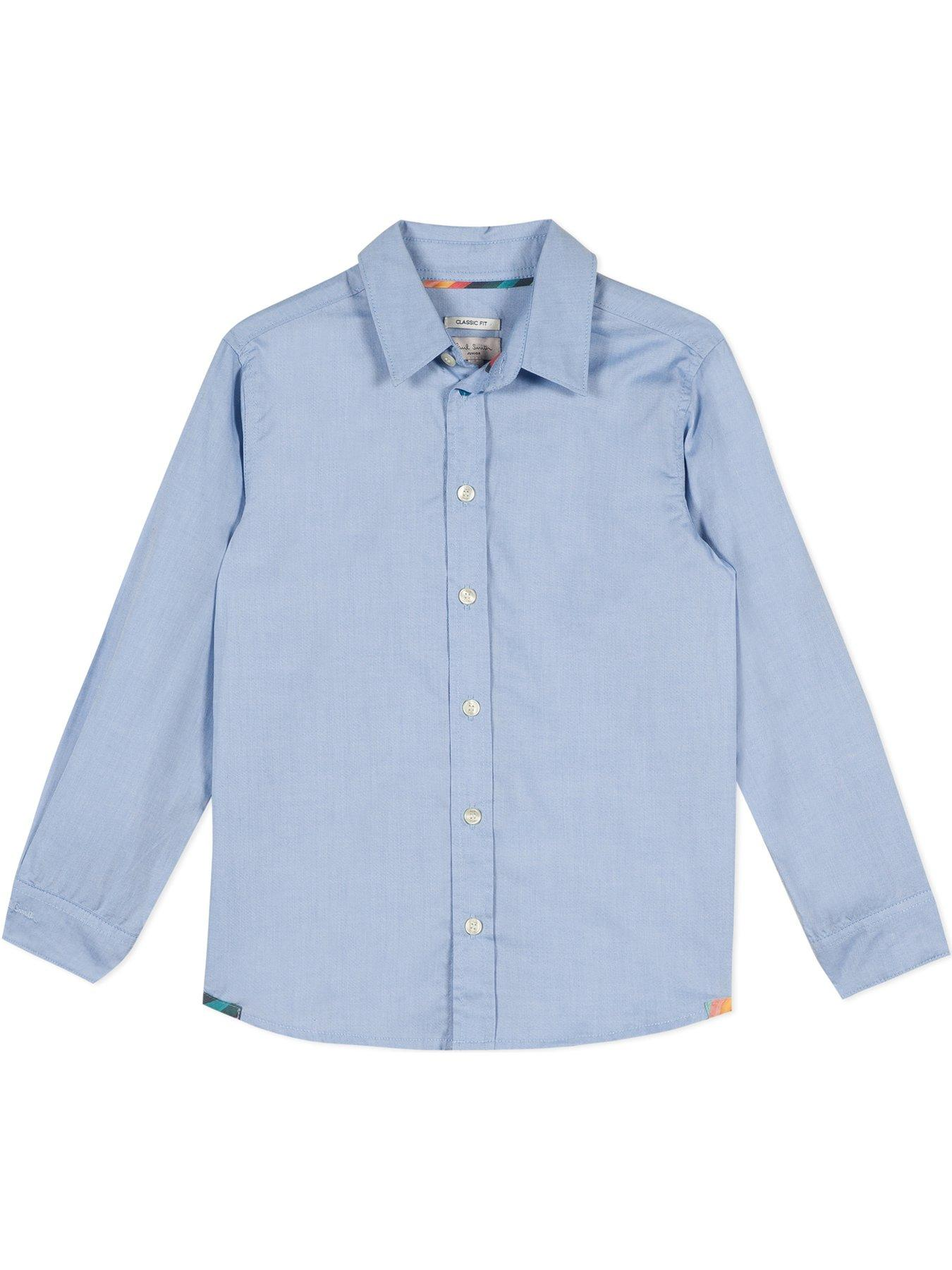 paul smith ps mens boys long sleeve shirt size s designer cuffs pink