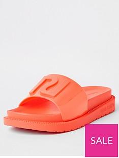 river-island-neon-slider-orange