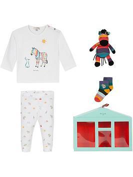 paul-smith-junior-baby-renato-zebra-pyjama-socks-toy-gift-set-white
