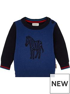 paul-smith-junior-baby-victor-zebra-long-sleeve-t-shirt-navy