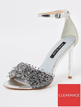 river-island-river-island-beaded-skinny-heel-sandals-silver