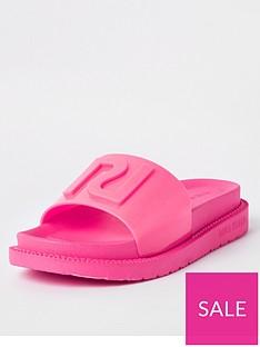 river-island-neon-slider-pink