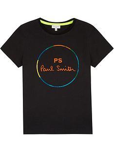 paul-smith-junior-boys-vernier-ps-short-sleeve-t-shirt-black