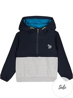 paul-smith-junior-boys-vedran-hybrid-half-zip-hoodienbsp--navy