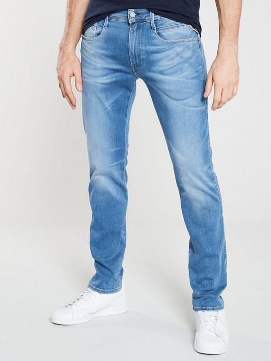 a5fe38d58ff234 Replay Anbass Jeans - Light Blue | very.co.uk