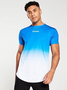 gym-king-grade-fade-t-shirt-bluewhite