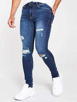 11-degrees-essential-super-stretch-distressed-skinny-jeans-blue