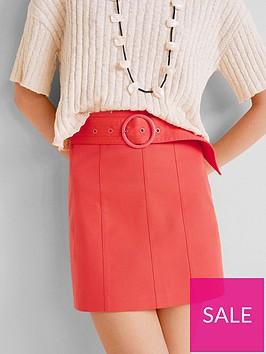 mango-belted-mini-skirt