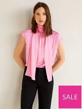 mango-satin-high-neck-tie-back-blouse