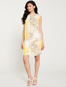 wallis-soft-palm-hotfix-pinny-dress-lemon