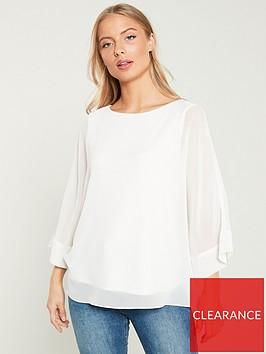 wallis-slash-neck-overlayer-blouse-ivory
