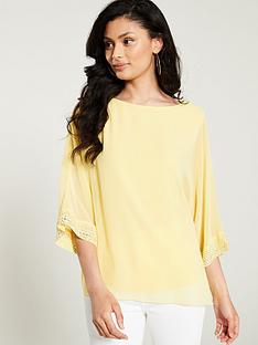 wallis-hotfix-cuff-overlay-blouse-yellow