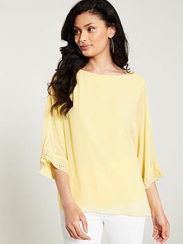 wallis-hotfix-cuff-overlay-blouse-yellow