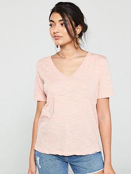 mango-v-neck-jersey-t-shirt-pink