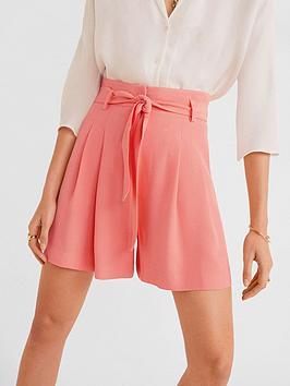 mango-belted-waist-shorts