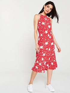 3910bcce1756 Oasis Amalfi Floral Tiered Midi Dress - Multi Red
