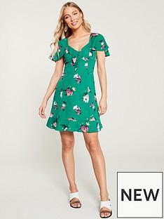 8a0dc05c45e Oasis Garden Floral Tie Front Skater Dress - Multi