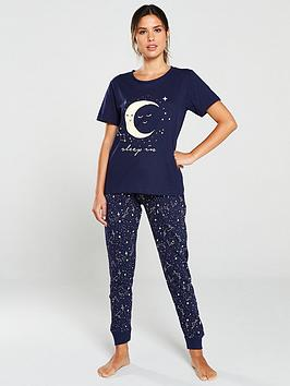 v-by-very-sleep-in-zodiac-pj-set-navyyellow