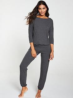 v-by-very-three-quarter-sleeve-slouchy-lounge-set-grey