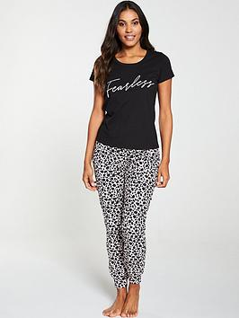 v-by-very-fearless-leopard-print-pj-set-black-pink