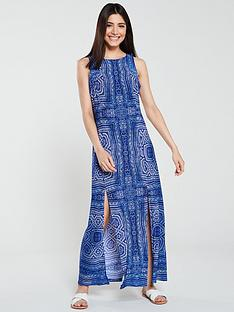 wallis-aztec-split-maxi-dress