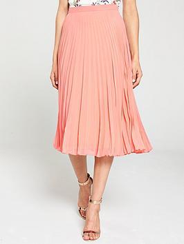 oasis-pleated-midi-skirt-orangenbsp