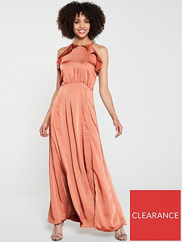 yas-nola-maxi-halter-dress-rust