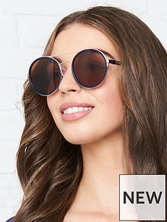 longchamp-round-double-bridge-sunglasses-navy