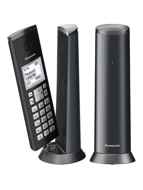 panasonic-kx-tgk222em-digital-cordless-telephone-with-15-inch-lcd-screen-nuisance-call-blocker-and-answering-machine-twin-dect-graphite-grey