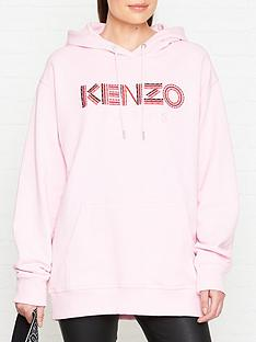 kenzo-logo-cord-hoodie-pink
